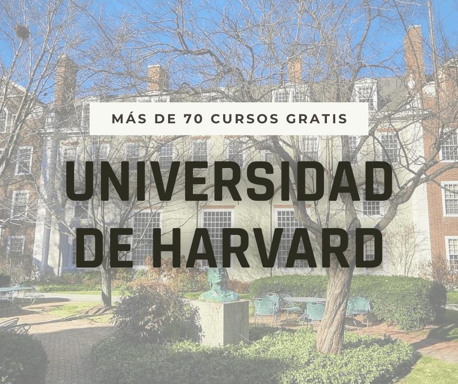 Universidad de Harvard ofrece 70 cursos gratuitos